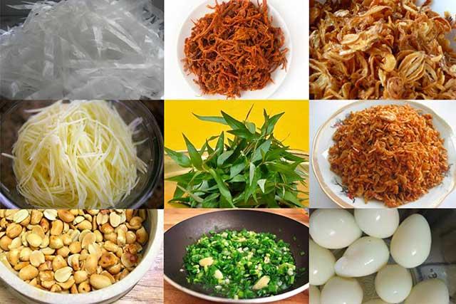 Bánh tráng trộn và cách nguyên liệu cần thiết