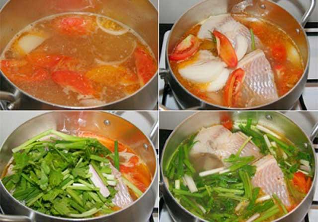 Cách nấu cá dọc mùng sử dụng cá diêu hồng
