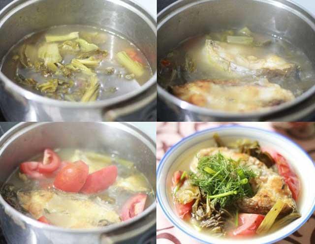 Kỹ thuật làm món dưa chua nấu canh cá