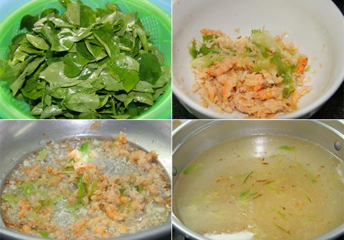 Cách làm canh rau ngót nấu tôm