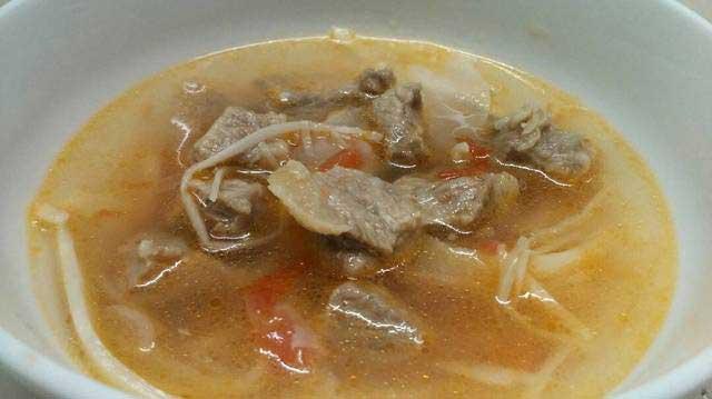 Căng măng chua nấu thịt bò