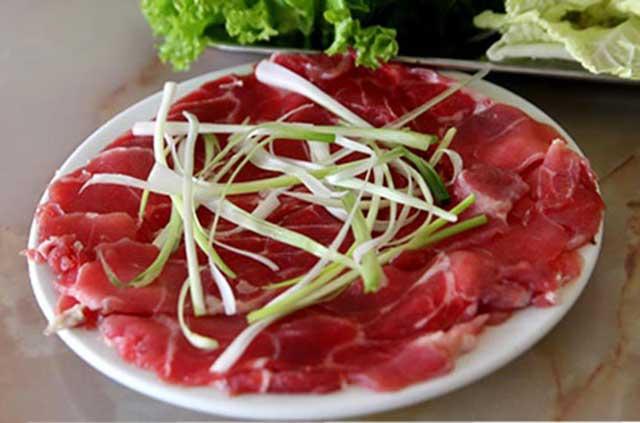Thịt bò tươi - cách làm món bò nhúng dấu