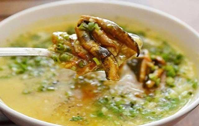 Hoàn thành món cháo lươn - cách nấu cháo lươn cho bé