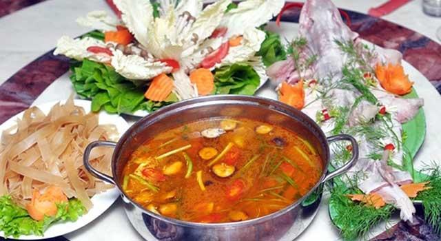 cách nấu lẩu cá bớp chua cay