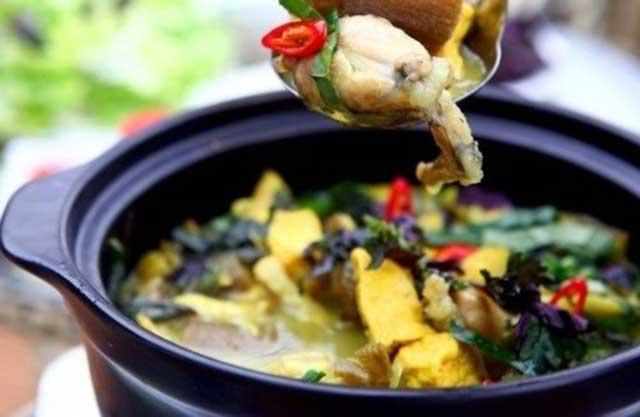 Món lẩu ếch chuối đậu ngon khó cưỡng