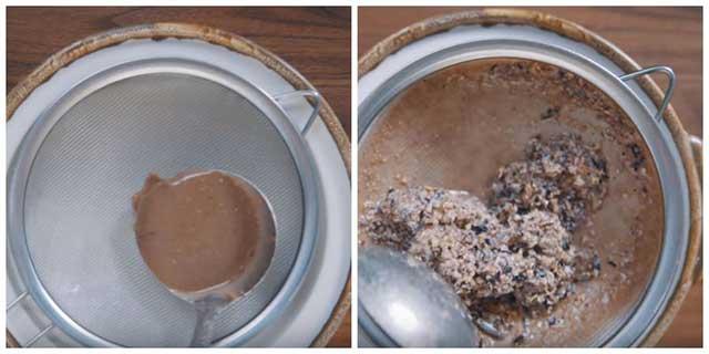 Lọc gạch cua - cách nấu lẩu cua đồng miền bắc