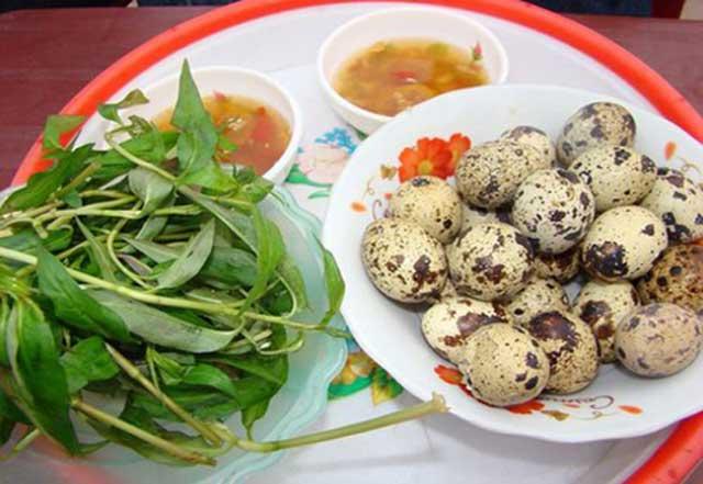 Trứng cút luộc thơm ngon
