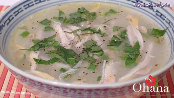 Món cháo gà chứa nhiều dinh dưỡng