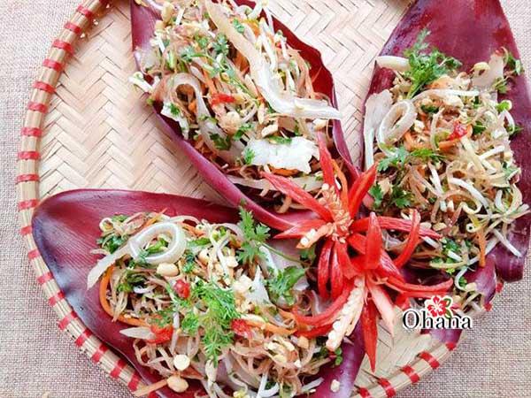 Món nộm hoa chuối tai heo ngon