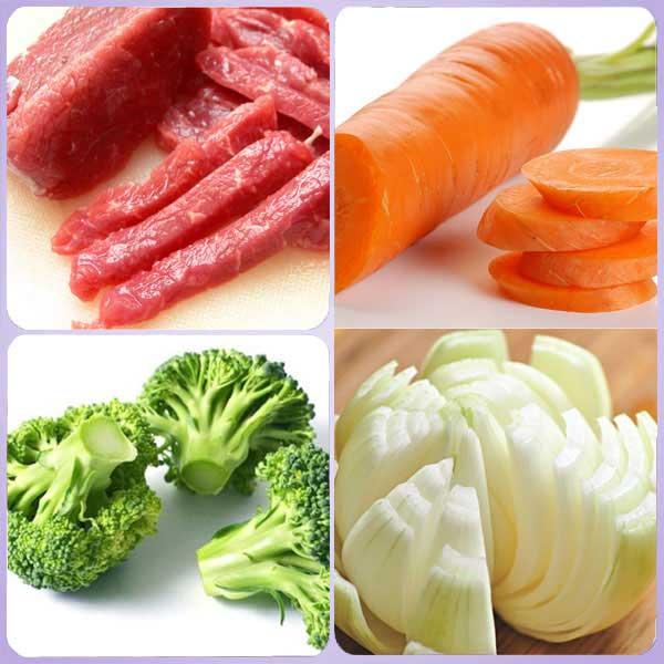 Thịt bò xào hành tây - cà rốt