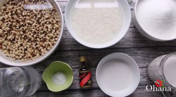 Nguyên liệu nấu chè đậu trắng