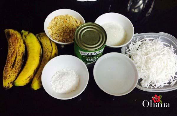 Nguyên liệu làm món kem chuối xay