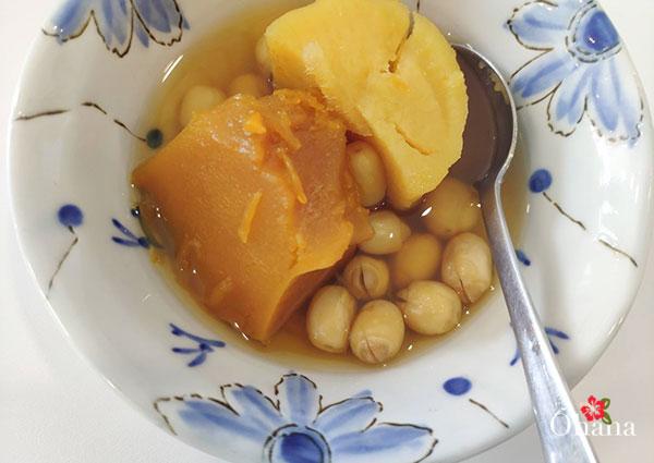 Món chè bí đỏ - khoai lang - hạt sen