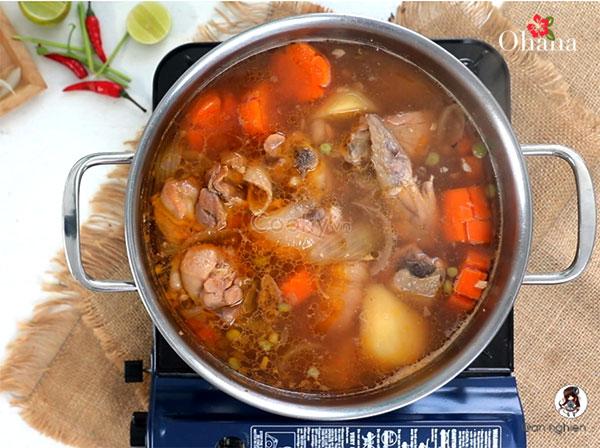 Cách nấu lagu gà