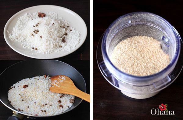 Chuẩn bị gạo