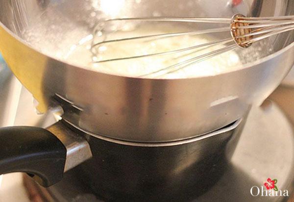 Thực hiện làm phần kem
