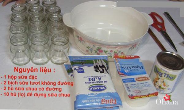 Nguyên liệu làm thạch sữa chua