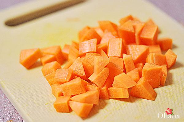 Sơ chế cà rốt