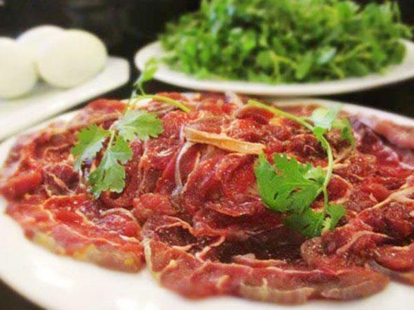 Sơ chế thịt bắp bò