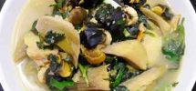 Cách nấu ốc chuối đậu