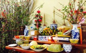 Mẫu bày bàn thờ ngày tết đẹp